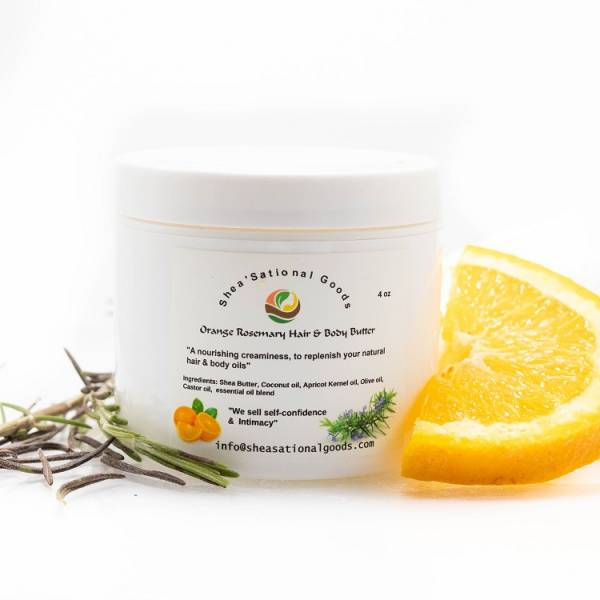 Hair and body butter orange rosemary